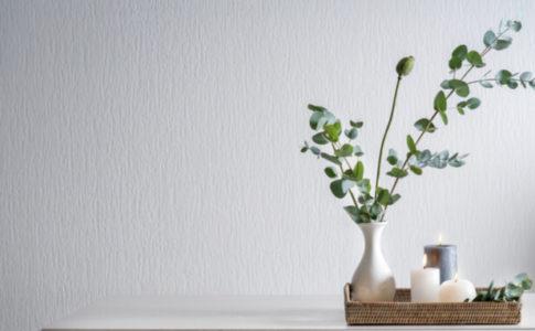 花瓶に生けたグリーン